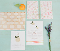 Peach and Lavender Illustrated Invitations