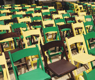 Yellow, Green and Brown Ceremony Chairs