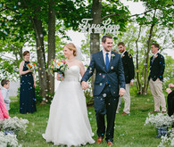 True Love Ceremony Sign and Recessional Bubbles