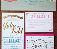 Vintage Santa Barbara Wedding Invitation