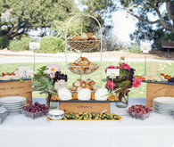 Vintage Santa Barbara Wedding Dessert Table