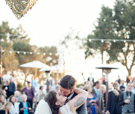 Vintage Santa Barbara Wedding Dance Floor