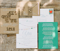 Southern California Ranch Wedding Invitation