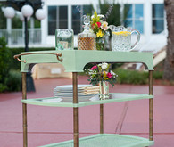 Mint bar cart