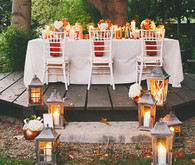 Vibrant Fall Wedding Tablescape