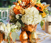 Vibrant Fall Wedding Florals