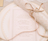 Vintage wedding place setting
