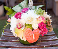 tiki bridal shower flowers