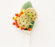 Whimsical wedding boutonniere