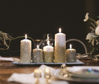 Glitter Candle Decor