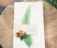 Rustic Fall napkins and place card