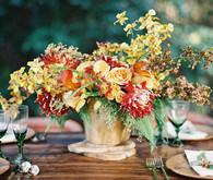 Rustic Fall centerpiece