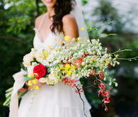 Vintage Mexican Fiesta Inspired Wedding Bridal Bouquet