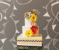 Vintage Mexican Fiesta Inspired Wedding Cake