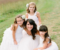 Vintage Wedding Flower Girls