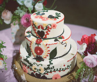 Wes Anderson Inspired Wedding Cake