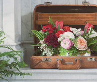 Wes Anderson Inspired Wedding Florals