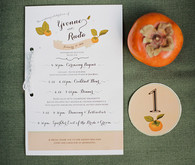 Napa Valley Wedding Orange Invitation