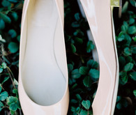 Light pink wedding flats