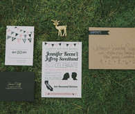 Whimsical Palm Springs Wedding Invitation