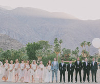 Whimsical Palm Springs Wedding Party