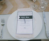 Whimsical Palm Springs Wedding Place Setting
