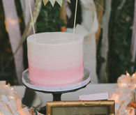 Whimsical Palm Springs Wedding Cake