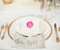 Vibrant Spring Wedding Place Setting