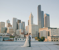 Vintage Glam Seattle Wedding Portraits