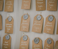 Vintage Glam Wedding Escort Cards