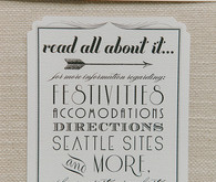 Vintage Glam Seattle Wedding Invitation