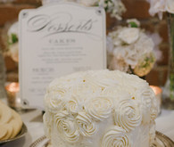 Vintage Glam Seattle Wedding Cake