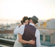Vintage Glam Seattle Wedding Portrait