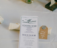 Vintage Glam Seattle Wedding Menu