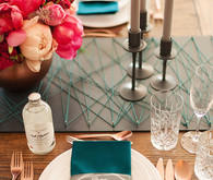 urban chic wedding place setting
