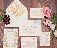Vintage garden wedding invitation