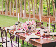 Vintage garden wedding tablescape