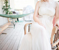 Vintage Woodland California Wedding Bride