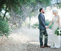 Vintage Woodland California Wedding Portrait