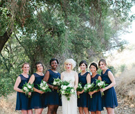 Vintage Woodland California Wedding Bridemaids