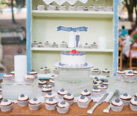 Vintage Woodland California Wedding Dessert Table