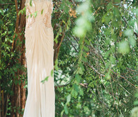 Vintage Woodland California Wedding Dress