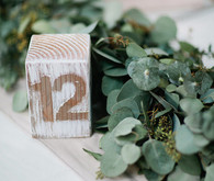 Vintage Woodland California Wedding Table Numbers