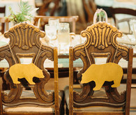 gold chair decoration