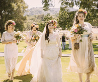 Vintage Carmel Wedding Bridesmaids