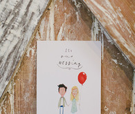 Whimsical Australian Wedding Invitation