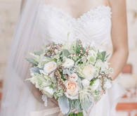 Soft Peach Wedding Bouquet