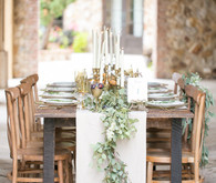 tuscan wedding tablescape