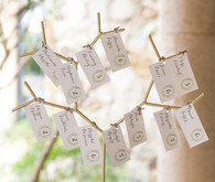tuscan wedding escort cards