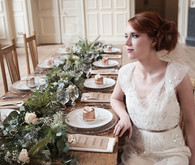 Bride with natural tablescape
